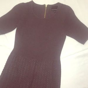 1/2 sleeve grey sweater dress
